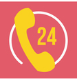 24 Hours Customer Service Icon vector image vector image
