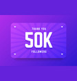 50k followers in gradient violet vector image