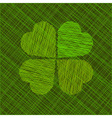 Abstract background with four-leaf clover vector image