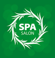 Abstract round logo for a spa on a green vector image vector image