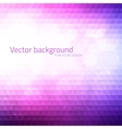 Abstract triangles background with bokeh vector image
