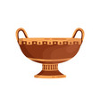 antique ornamented vase with handles ancient clay vector image vector image