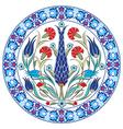 Antique ottoman turkish pattern design thirty nine vector image vector image
