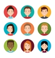avatars people design vector image vector image