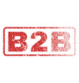 b2b rubber stamp vector image vector image