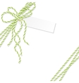 Background with bakers twine bow and ribbons vector image vector image