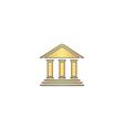 bank computer symbol vector image