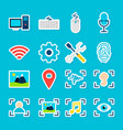 big data ai stickers vector image vector image
