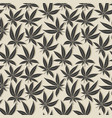 black cannabis leaf seamless pattern vector image vector image