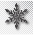 black snowflake christmas decoration vector image vector image