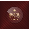 brand year glass label vector image vector image