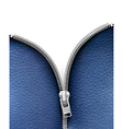 Business background with blue leather texture and vector image vector image
