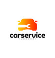 car service logo car repair logo design template vector image