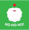christmas background with santa claus ho ho ho vector image vector image