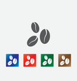 Coffee beans icons vector image vector image