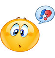 confused emoticon with speech bubble vector image vector image