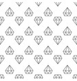 diamonds dark linear geometric seamless vector image vector image