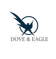 dove and eagle negative space concept design vector image vector image