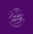 Easter party lettering