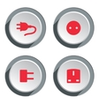 Electric socket base icon set Power energy symbol vector image