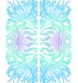 elegant tribal intricate ornament blue cyan vector image vector image