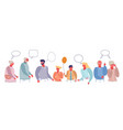 family discussion flat style design vector image
