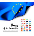 flags of the countries of the european union eu vector image vector image