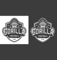football club angry gorilla mascot label vector image vector image