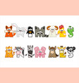 funny cartoon word animals set funny letters vector image