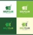 golf club logo and icon vector image