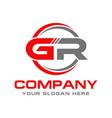 gr logo vector image vector image