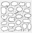 hand drawn bubbles set doodle style comic balloon vector image vector image