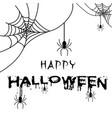 happy halloween spider of web background im vector image