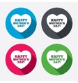 Happy Motherss Day sign icon Mom symbol vector image
