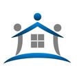 house figure abstract real estate icon vector image vector image
