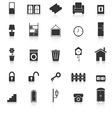 House related icons with reflect on white vector image