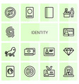 identity icons vector image vector image