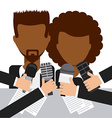 interview concept vector image vector image