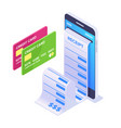 isometric mobile payment concept vector image vector image