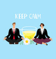 keep calm concept vector image