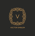 logo design template in simple and trendy linear vector image vector image