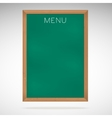 Menu blackboards or chalkboards vector image vector image