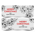 merry christmas banners poster template design vector image