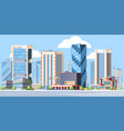 modern city landscape colorful flat vector image vector image