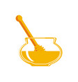 natural honey isolated icon vector image vector image