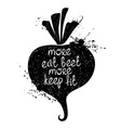 Of Isolated Beet Silhouette vector image vector image