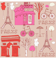 Paris Elements Background vector image vector image