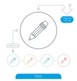 Pencil icon Drawing tool sign vector image vector image