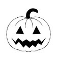 pumpkin hallooween decorative icon vector image vector image