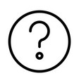 question mark sign for help and support section vector image vector image